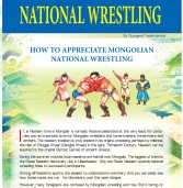 NAADAM FESTIVAL NATIONAL WRESTLING