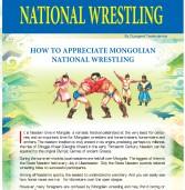 NAADAM FESTIVAL NATIONAL WRESTLING